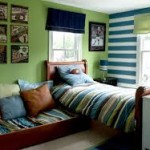 kid bedroom green