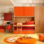 kid bedroom orange