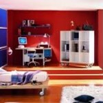kid bedroom red