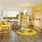 kids bedroom yellow