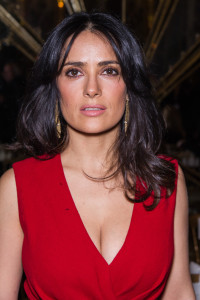 PARIS, FRANCE - JANUARY 21: Salma Hayek attends the Giambattista Valli Spring/Summer 2013 Haute-Couture show as part of Paris Fashion Week at on January 21, 2013 in Paris, France. (Photo by Dominique Charriau/WireImage)