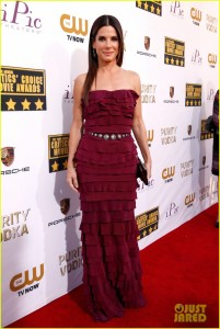 SANTA MONICA, CA - JANUARY 16: Actress Sandra Bullock attends the 19th Annual Critics' Choice Movie Awards at Barker Hangar on January 16, 2014 in Santa Monica, California. (Photo by Christopher Polk/Getty Images)