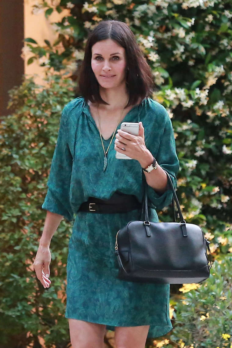 bright winter courteney cox in green
