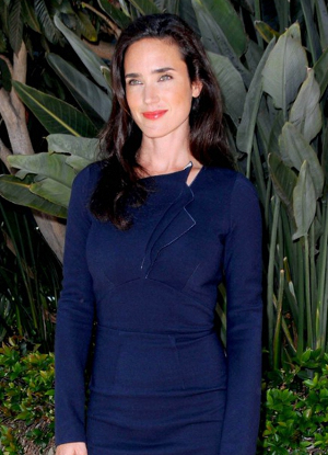 classic winter jennifer connelly in blue