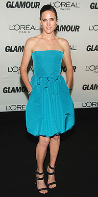 classic winter jennifer connelly in turquoise