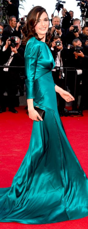 dynamic winter rachel weisz in shiny blue
