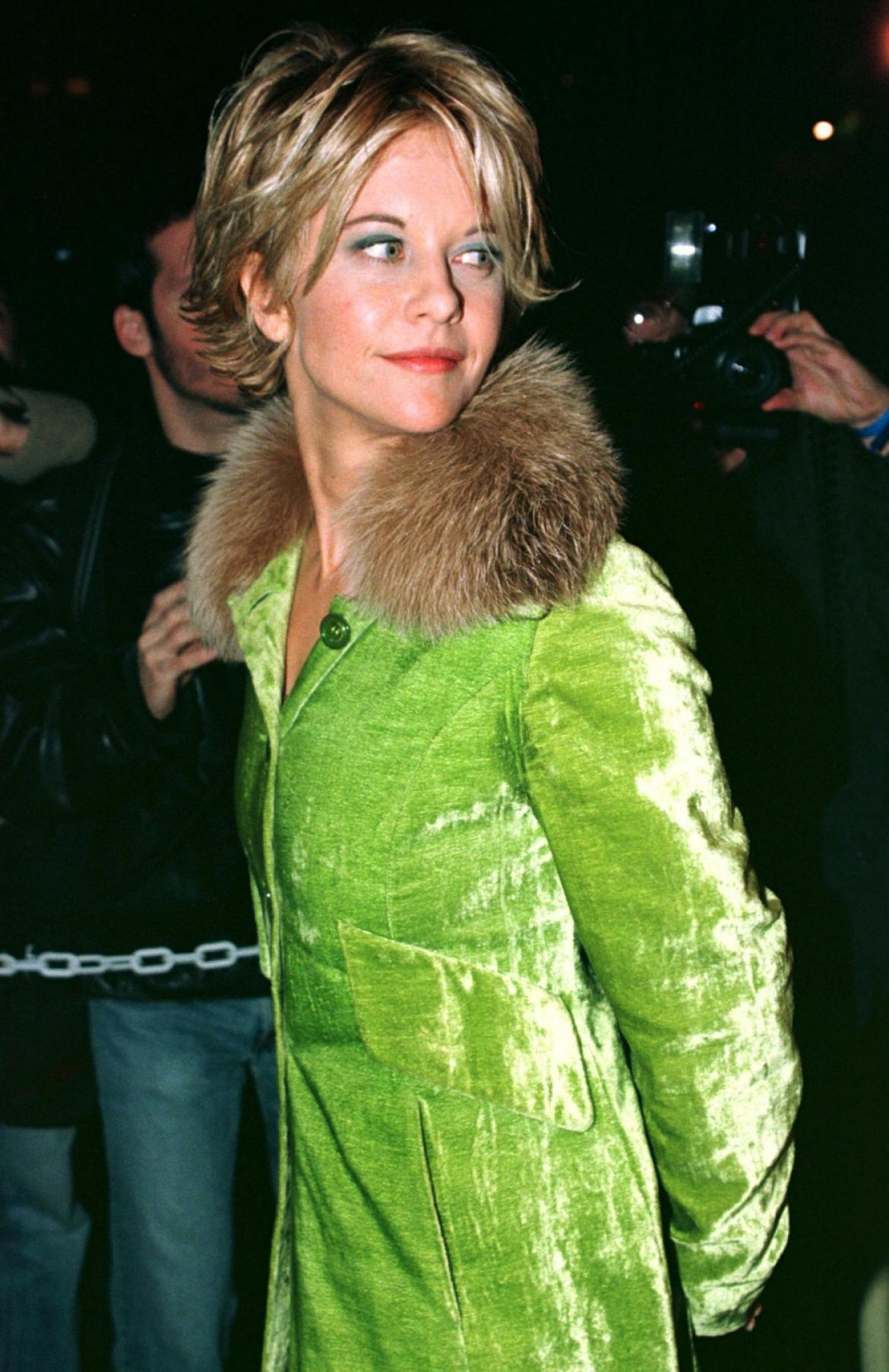 floral spring meg ryan in green