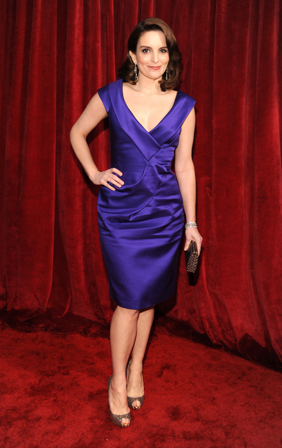 LOS ANGELES, Jan 23, 2010 - Tina Fey at the Screen Actors Guild Award. Tina was wardrobed by Salvatore Ferragamo