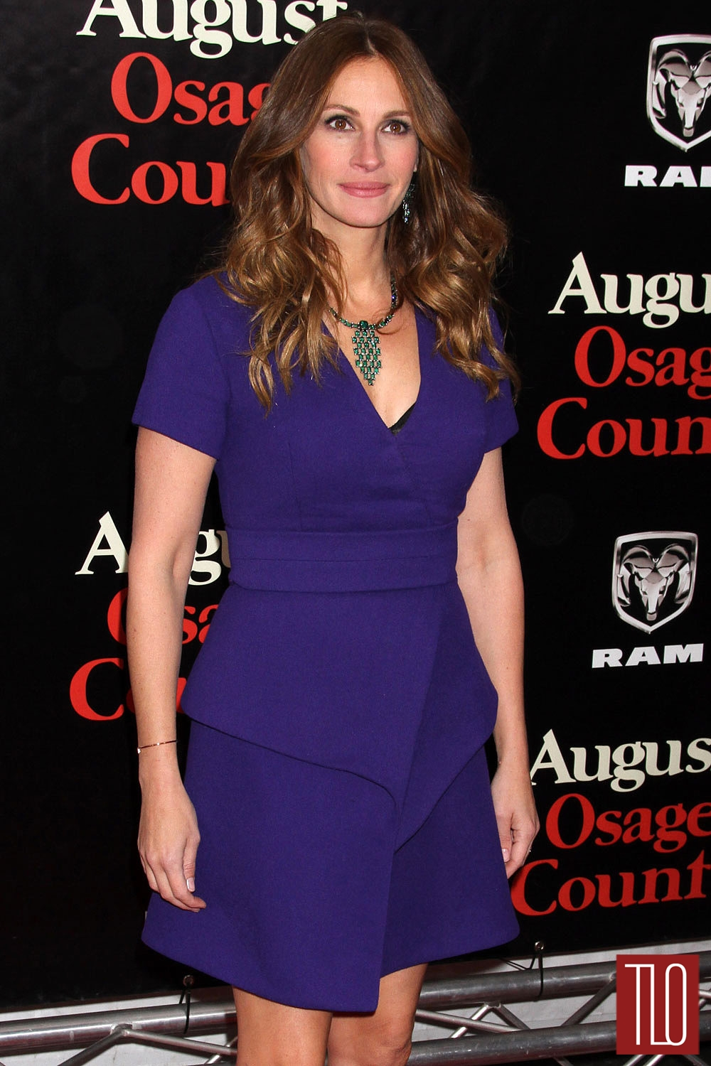 warm autumn julia roberts in purple